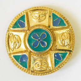 Saxon disc brooch RA33 with gold plating