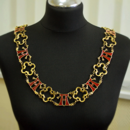 """Luxurious knight's collar with letter """"A"""""""