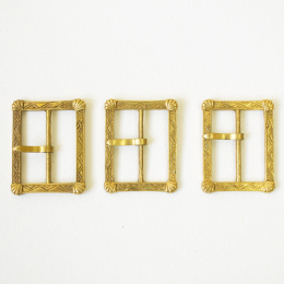 Set of 3 medieval buckles, England